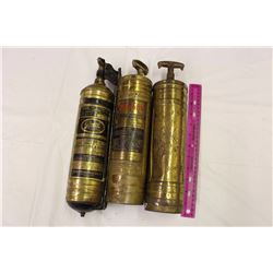 Antique Fire Extinguishers (3)(Pryene, Fire Gun, Unknown)