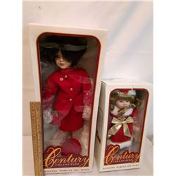 Hand Crafted Century Collection Genuine Porcelain Dolls(2)
