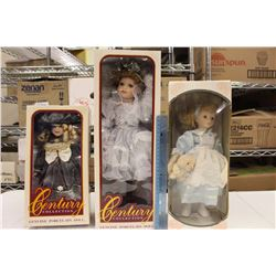 Genuine Porcelain Dolls (3)(2 Century Collections)
