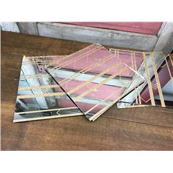 Vintage 1970s Mirror Tile Lot (10)