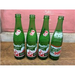 4 Different Mountain Dew Bottles (Hilly Billy Design)