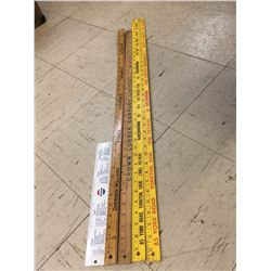 Advertising Metre Yard Stick Ruler Lot (Yorkton, Pepsi, Morris)