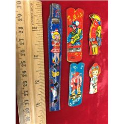 Vintage Tin Whistles (5) (Girls, Parrot, Cowboy)