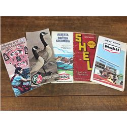 Gas & Oil Advertising Road Map Lot