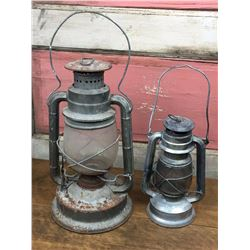 Antique Barn Lanterns Lot (2)