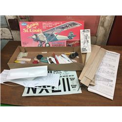 Vintage Spirit of St. Louis, Balsa Wood, Flying Model Kit