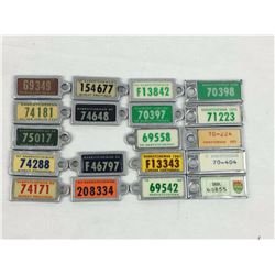 1954 to 1973 Waramps Licence Plate Key Chain Fobs (MISSING 1961)