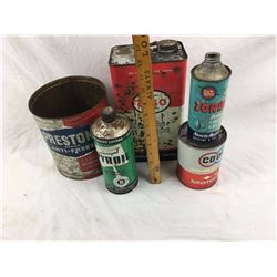 Oil And Related Advertising Cans Lot