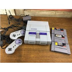 Working Super Nintendo W/ Games (3), Controllers (2), Power Cord, TV Cord