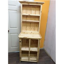 "Solid Pin Shelving Cabinet (72 1/2"" tall, 25 1/2"" wide x 18"" deep)"