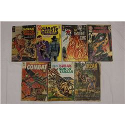 Lot of 1960s Comic Books (7)(Realistic Comic Art)