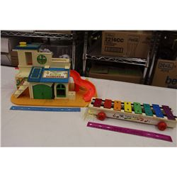 Fisher Price Sesame Street Club House&A Vintage Xylophone