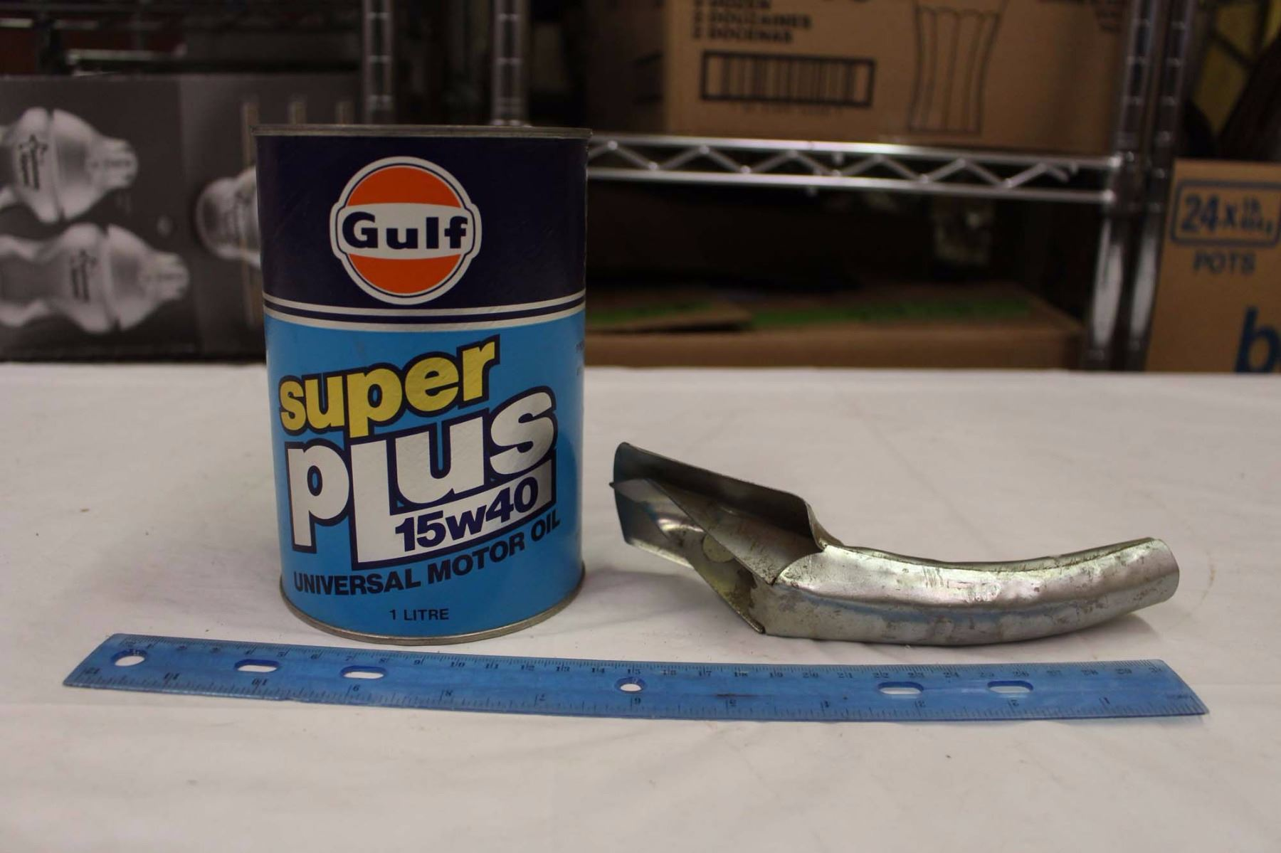 Gulf Motor Oil Bank A Oil Can Spout