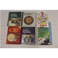 Lot of Informational Canada Coin Books(5)&1 US Coin Digest Book
