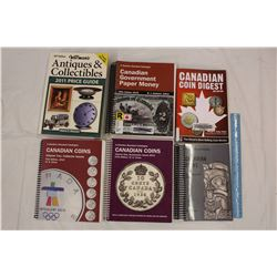 Lot of Canadian Coins Books(5)&A Antiques&Collectibles Book