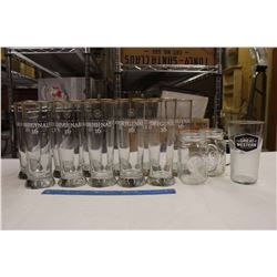 Lot of Beer Glasses: Great Western Original 16 & Assorted
