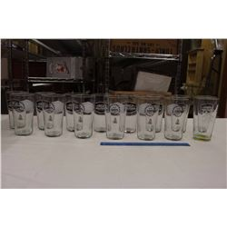 Lot of Great Western Brewing Beer Glasses