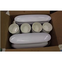 Lot of Dipping Bowls & Serving Trays