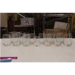 Lot of Stemless Wine Glasses