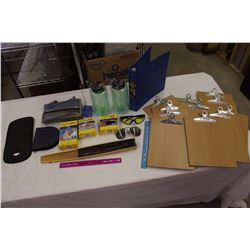 Lot of Assorted Items: Sun Glasses, Folding Fan, Abtronic system