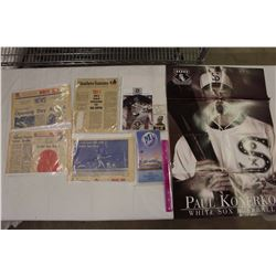 Lot of Chicago White Sox MLB Related(News Articles(1970s),Poster,Etc)