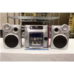 RCA 5 Disc Changer Stereo System w/2 RCA Speakers