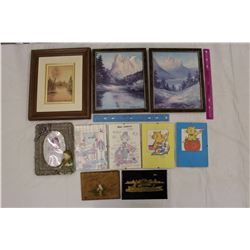 Lot of Misc (Frames w/Art, Pictures, Etc)