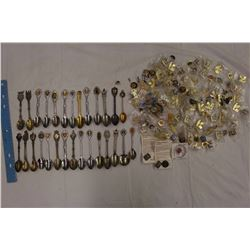 Lot of Collector Spoons& Pins