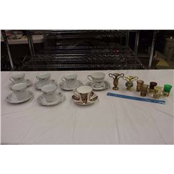 Lot of Vintage Tea Cups& Saucers w/Shot Glasses