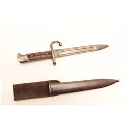 Remington Arms Co., Ilion N.Y.-marked bayonet  with scabbard and frog for rolling block  rifle; good