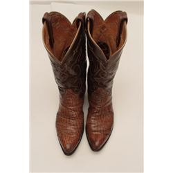 """Bonanza lot of 3 pairs of boots; one pair of  """"Black Viper"""" Tony Llama size 8 men's boots  in good t"""