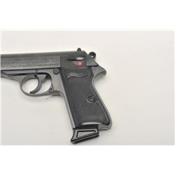 "Walther Interarms Model PPK/S post-'68  semi-automatic pistol, .380 ACP caliber,  3.25"" barrel, blue"