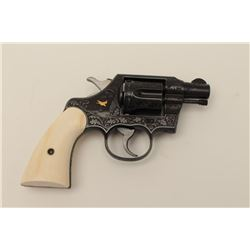 "Colt Official Police revolver in .38 special  with a 2"" barrel, S/N 689141 showing finely  engraved"