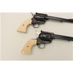 Consecutive pair of Colt New Frontier single  action revolvers, .44 Special caliber, Serial  #'s 092