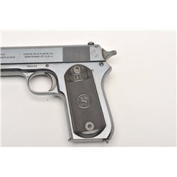 "Colt Model 1903 semi-automatic pistol, .38  caliber, 4.5"" barrel, blued finish, checkered  hard rubb"