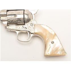 "Very rare Colt Sheriff's Model Single Action  revolver, factory engraved, .44-40, 4""  barrel, old re"