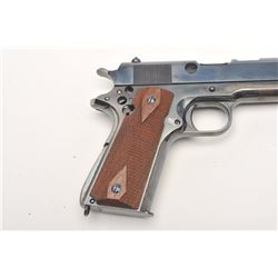 "Colt Model 1911A-1 ""Cut-away"" semi-automatic  pistol, .45 caliber, 5"" barrel, re-blued  finish, chec"