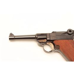 "Oberndorf Mauser semi-automatic pistol, 9mm  Luger caliber, 3.75"" barrel, blued finish,  checkered w"