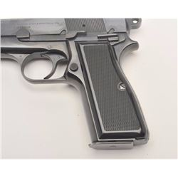 Belgian-made Browning Hi-Power Tangent sight  Commercial T-series semi-automatic pistol,  9mm calibe