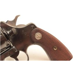 Colt New Service revolver, .38 Special  caliber, Serial #335095.  The pistol is in  fine to nearly e