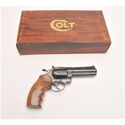 "Colt Diamondback Model DA revolver, .38  Special, 4"" ventilated rib barrel, blued  finish, custom fi"