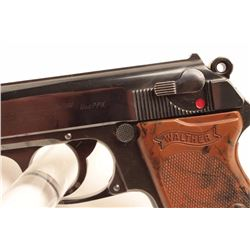 "Walther pre-war crown ""N"" Commercial Model  PPK semi-automatic pistol, .22 caliber, S/N  921554, app"