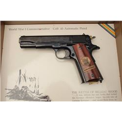 Colt WW I Commemorative for the Battle of  Belleau Wood, Model 1911 semi-automatic  pistol, .45 cali