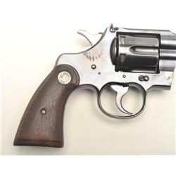 "Colt Officer's Model DA revolver, .38   caliber, 4.5"" barrel with King front sight,   blued finish,"