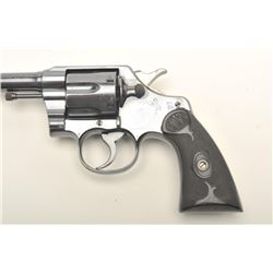"Colt Army Special DA revolver, .32-20 W.C.F.   caliber, 6"" barrel, high polish blued  finish,  check"