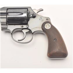 "Colt Detective Special DA revolver, .38  Special caliber, 2"" barrel, blued finish,  checkered wood m"