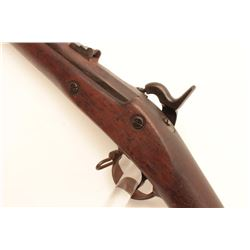 1864 Civil War era three band percussion  musket marked E. Robinson, N.Y.   Approximately .62 calibe