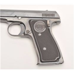 Remington Model 51 semi-automatic pistol,  blued finish, checkered black hard rubber  grips, S/N PA