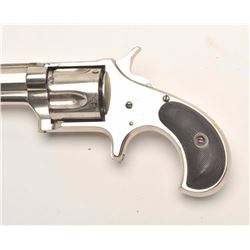 "Remington Smoot No. 3 Model spur trigger  revolver, .38 caliber, 3.75"" barrel, nickel  finish, check"
