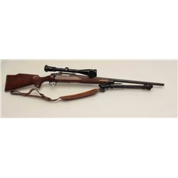 "Remington Model 700 bolt action rifle,  .22-250 caliber, 25"" barrel, mat black  finish, checkered wo"